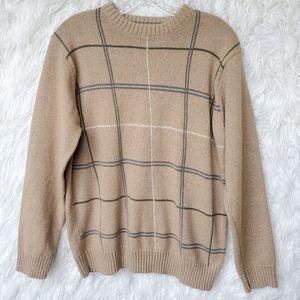Oscar De La Renta Mens Crewneck Sweater M